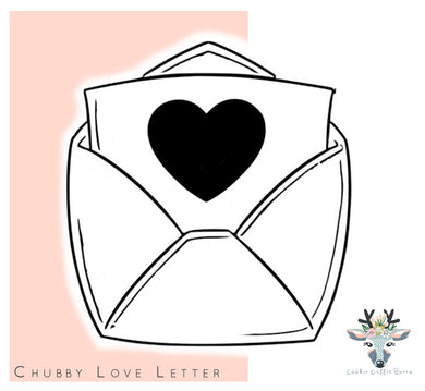 Chubby Love Letter Cookie Cutter - CQ423