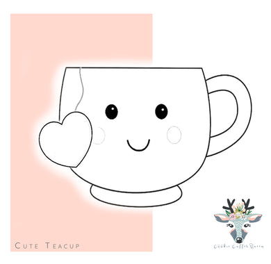 Cute Teacup  Cookie Cutter - CQ527