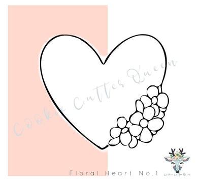 Floral Heart Cookie Cutter - CQ130