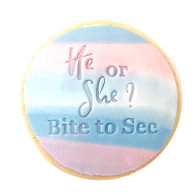 He or She? Bite to See   - Fondant Stamp/Embosser