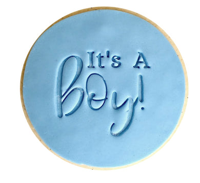 It's A Boy   - Fondant Stamp/Embosser
