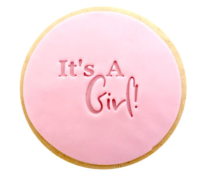 It's A Girl   - Fondant Stamp/Embosser