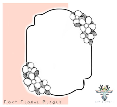 Roxy Floral Plaque Cookie Cutter - CQ449