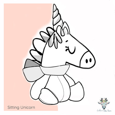 Sitting Unicorn -  Cookie Cutter - CQ741