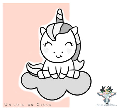 Unicorn On Cloud Cookie Cutter - CQ516