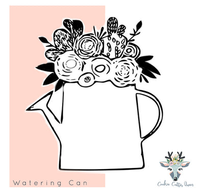 Watering Can with Flowers - CQ214