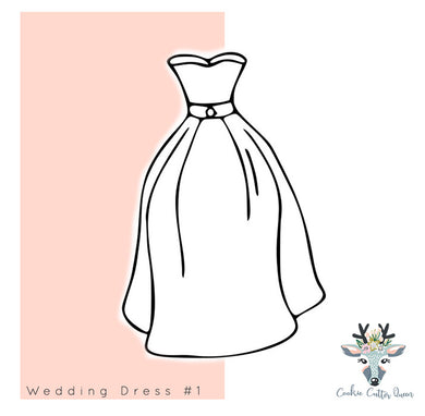 Wedding Dress #1  Cookie Cutter - CQ244