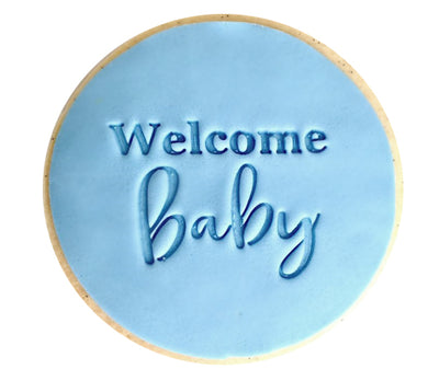 Welcome Baby  - Fondant Stamp/Embosser