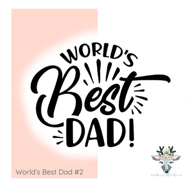 World's Best Dad #2 -  Cutter and Embosser/Debosser