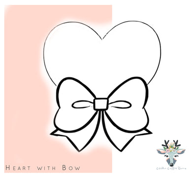Heart With Bow Cookie Cutter - CQ444
