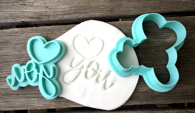 Love You Fondant Embosser and Cutter Set - CQ572 (Optional Handle)