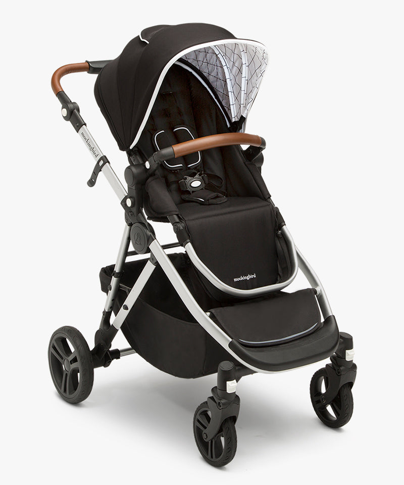 Mockingbird Double Stroller Silos 23 windowpane PDP