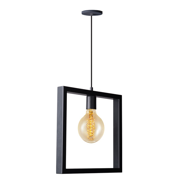 Irony Ceiling Lamp in Matching Matte Black
