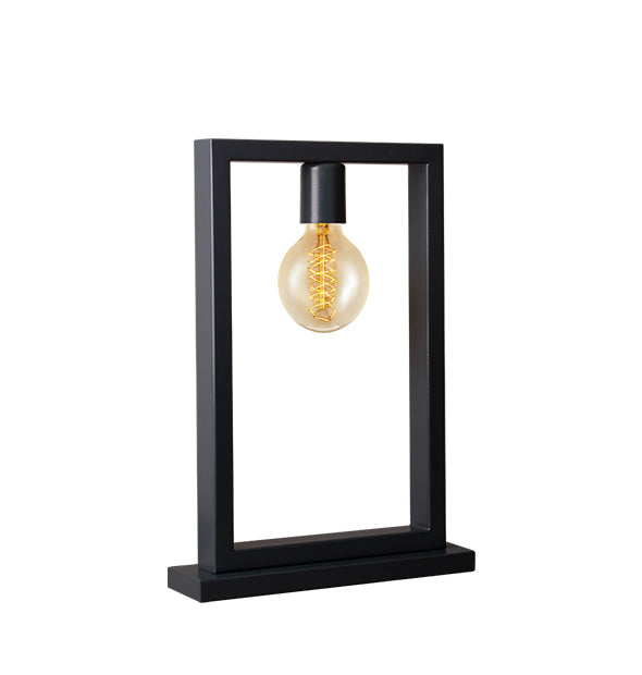 Irony Table Lamp in Matching Matte Black