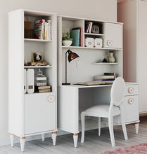 Load image into Gallery viewer, Bella Study Desk Top Shelving Unit in Ultra White Finish