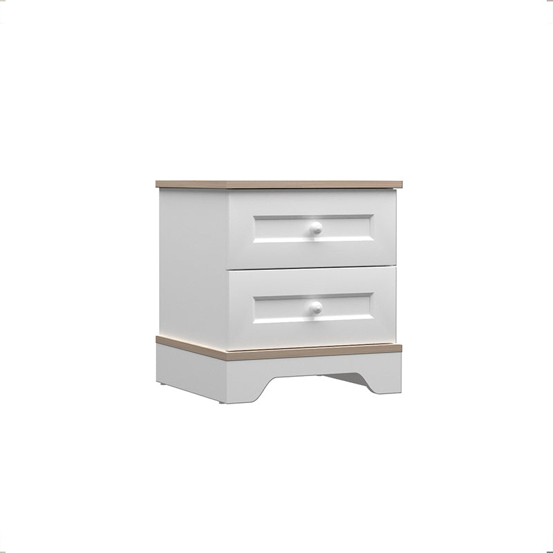 Bianca Two Drawer Nightstand in Satin White