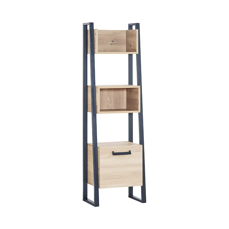 Irony Scaling Bookshelf in Weathered Oak / Matte Black