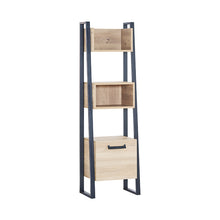 Load image into Gallery viewer, Irony Scaling Bookshelf in Weathered Oak / Matte Black