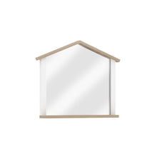 Load image into Gallery viewer, Loft Matching Dresser Mirror in Matte White / Oak Accent