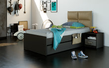 Load image into Gallery viewer, Nova Black Pull-Out Bed 90X190