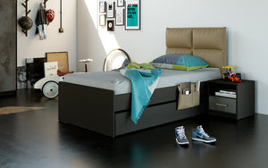 Nova Black Pull-Out Bed 90X190