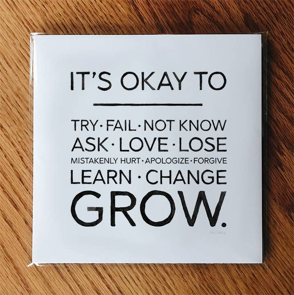 Learn, Change, Grow | 8x8 Print