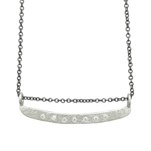 Weathered Diamond Bar Necklace