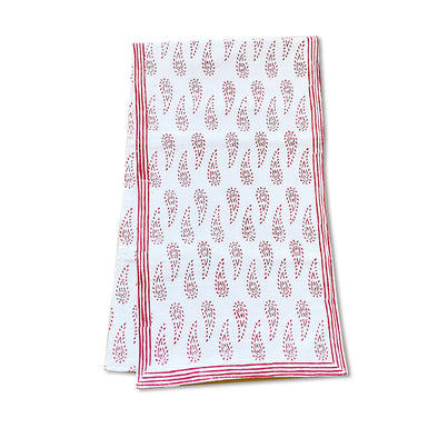 Red Paisley | Block Print Table Runner