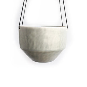 Medium Pinched Hanging Planter | Seafoam