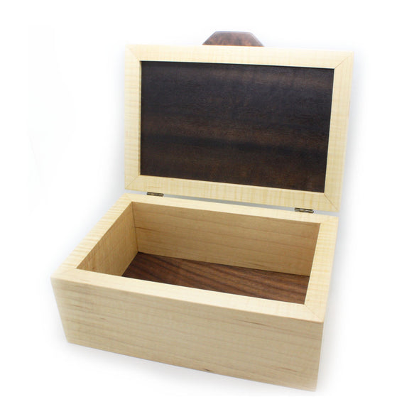 Smoked Eucalyptus and Curly Maple Jewelry Box