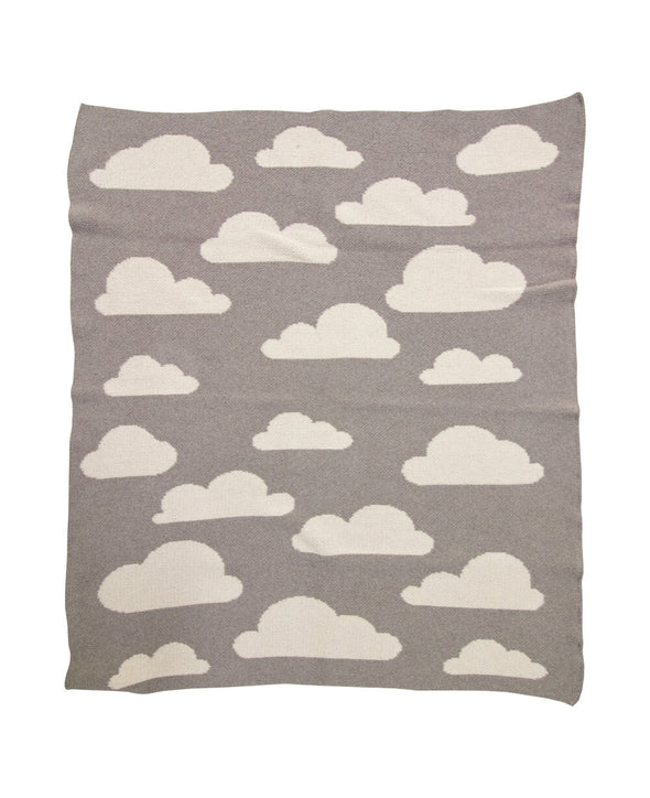 Mini Throw Blanket | Clouds | Dove