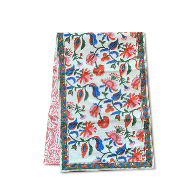Chamoli Floral | Block Print Table Runner