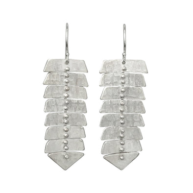 Slim Fishbone Dangle Earrings