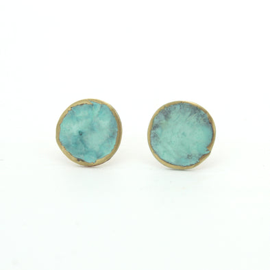 Turquoise Patina Studs