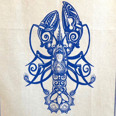 Mooncusser Kitchen Towel | Blue Lobster