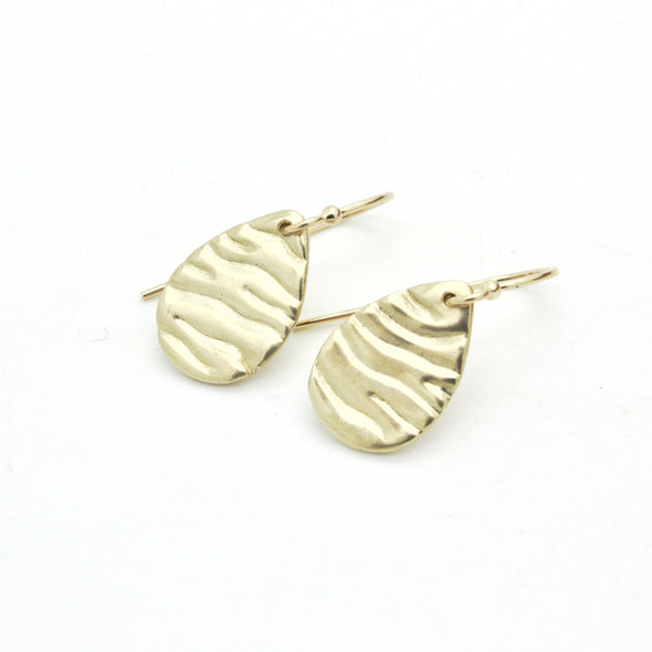 Mini Tidal Teardrop Dangles in 14k Gold