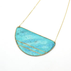 Patina Double Striped Necklace
