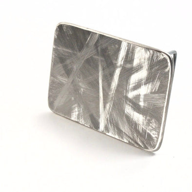 Scuffed Stainless Steel Belt Buckle