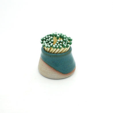 Matchstick Holder | Deep Turquoise