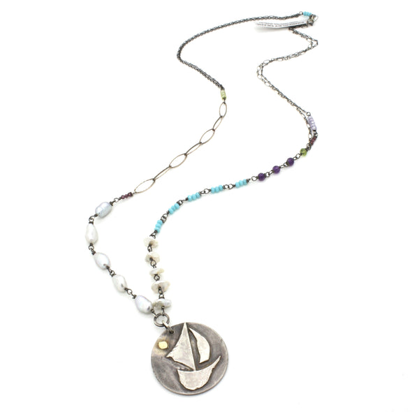 Sailboat Statement Necklace