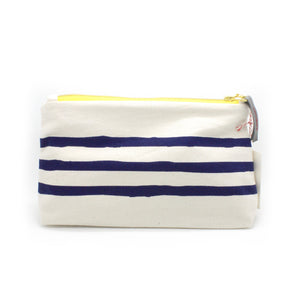Makeup/Travel Bag | Navy Lines