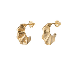 Wave Hoops | 14k Vermeil