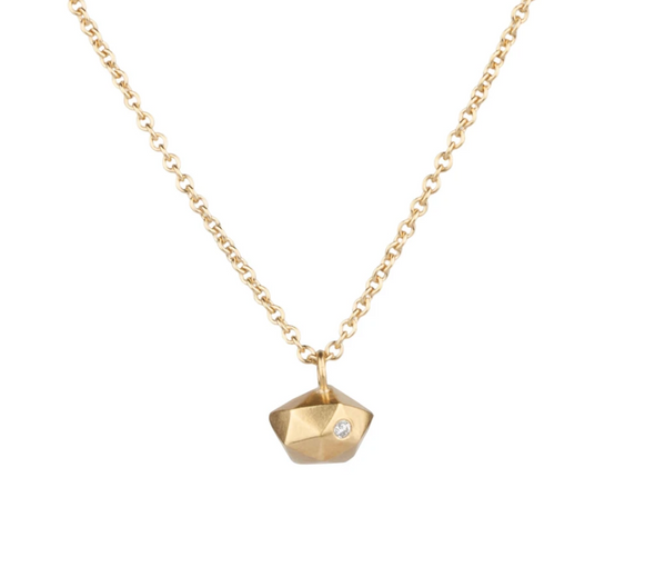 Tiny Silver Fragment Necklace | 14k Vermeil
