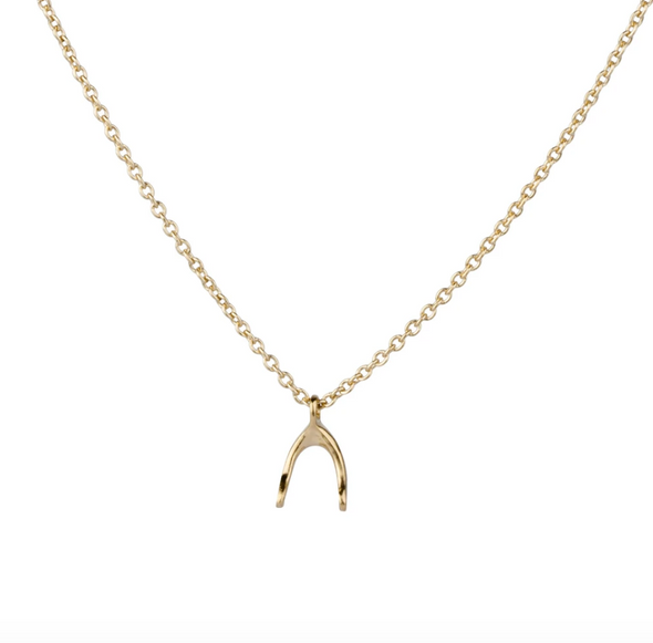 Wishbone Necklace | 14k Vermeil