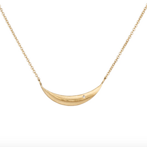 Diamond Wisp Necklace | 14k Vermeil