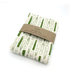 Cotton Flower Sack Kitchen Towel |  Asparagus