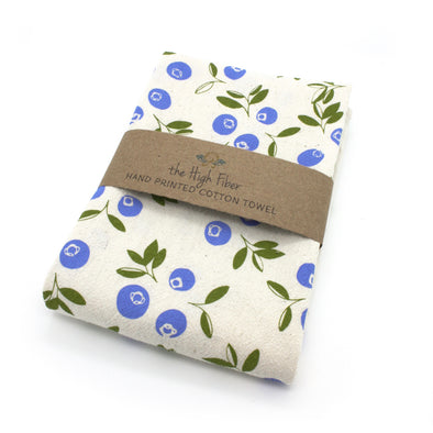 Cotton Flower Sack Kitchen Towel |  Blueberries