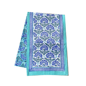Chrysanthemum Block Print Table Runner