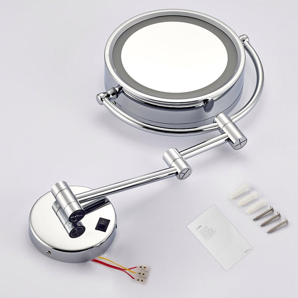 Dowry Wall Mounted Led Lighted Makeup Mirror Hard Wire 8