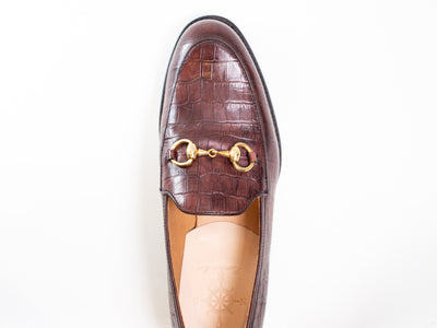 Horsebit F (Emboss Croc) Loafers